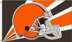 Cleveland Browns 3 Ft. x 5 Ft. flag w/grommetts - NFL