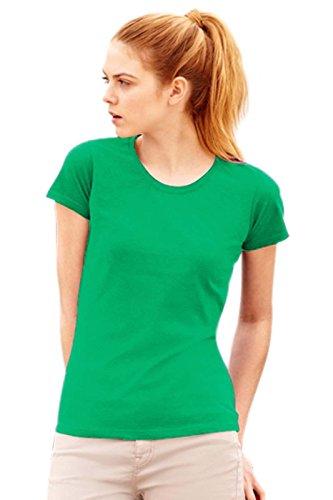 stock-10-magliette-cotone-100-donna-fruit-of-the-loom-valueweight-maniche-corte-colore-verde-prato-t