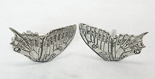 Solid Pewter Butterfly Wing Cufflinks With Gift Box