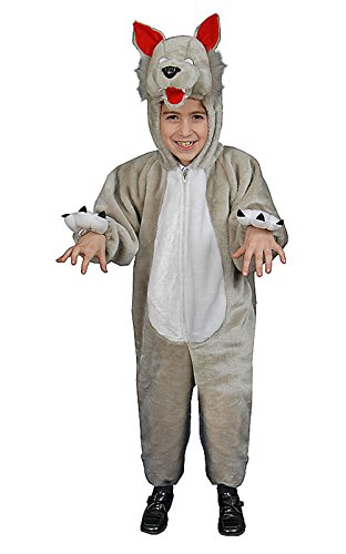 Dress Up America Kids Plush Wolf Costume Set