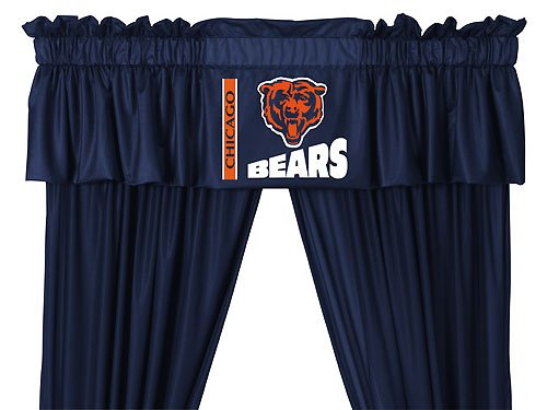 NFL Chicago Bears 5pc Jersey Curtain Set Drapes and Valance