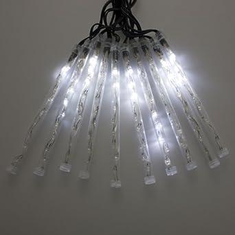 guirlande lumineuse avec 10 tubes lightfall 8 m 100 led blanc effet chute de neige 8. Black Bedroom Furniture Sets. Home Design Ideas