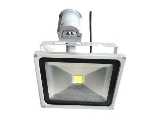 Lenbo 110V 50W Pir Led Flood Light Warm White Floodlight 3000K Motion Sensor Ac85V-265V Grey Case Lw42