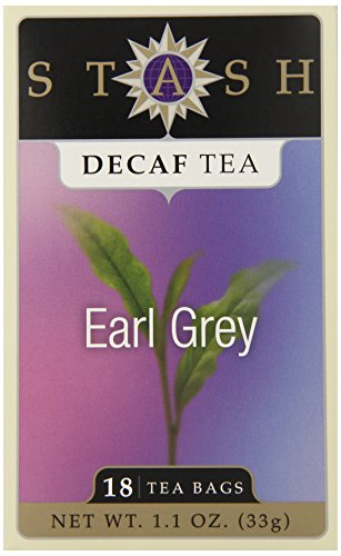 Stash Tea Decaf Earl Grey Tea, 18 Count Tea Bags In Foil (Pack Of 6)