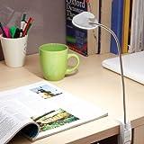Renata LED Gigalyte Clamp- Cool White Light - White