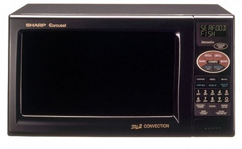 Sharp R-820Bk 900-Watt 0.9 Cubic Foot Convection Microwave, Black