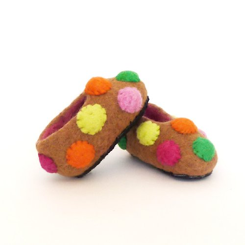 Warm Children Slippers- Cookies (infant to 6/7