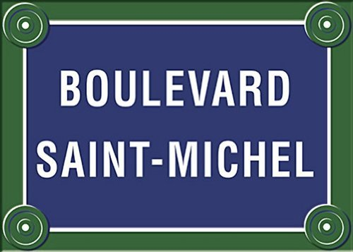 french-paris-street-sign-boulevard-saint-michel