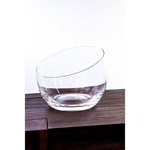 Pot décoratif arrondi KATE en verre, transparent, 18 cm, Ø 21 cm - Centre de table en verre / Coupe décorative - INNA Glas
