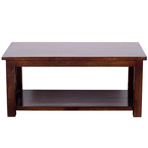 Ringabell Vega Solid Wood Coffee Table (Walnut Finish, Brown)
