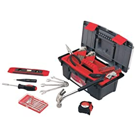 Apollo Precision Tools DT9773 53-Piece Household Tool Kit with Tool Box