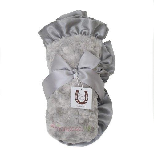 Max Daniel Baby Rosebuds & Satin Baby Throw - Platinum front-1026141