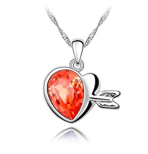 Boxingcat Fine Jewelry Swarovski Style Clear Austrian Crystal Pendant Necklaces Bgca4221 front-765804
