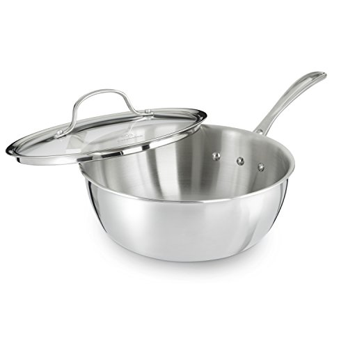 Calphalon Triply Stainless Steel 3-Quart Chef's Pan with Cover