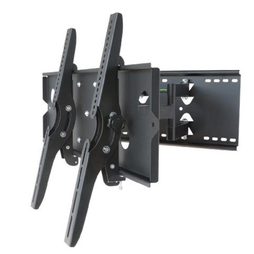 "Gorillamounts New Premium Universal Adjustable Tilting/Swiveling Articulating Full Motion Dual Arm Tv Wall Mount Bracket For Lcd Led Plasma - Black (Max 175 Lbs, 37~65""* Inch) *Max Vesa 750X450 Sony Tvs"