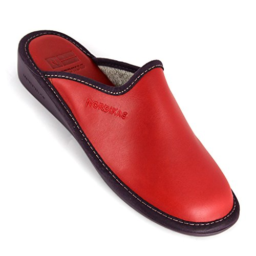 Nordika, Pantofole donna rosso Size: 40