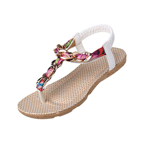 Hee Grand Women Bohemian Style Beach Thong Sandals
