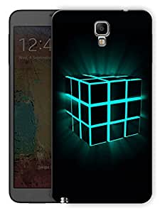 "Humor Gang Box Cube Glowing Printed Designer Mobile Back Cover For ""Samsung Galaxy Note 3 Neo"" (3D, Matte Finish, Premium Quality, Protective Snap On Slim Hard Phone Case, Multi Color)"
