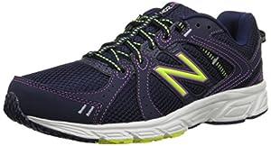 New Balance Women's WE402V1 Running Shoe, Navy/Yellow, 9 D US