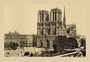 Notre dame fore front print canvas giclee for Notre dame home decor