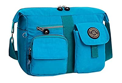 Bronze Times Women's Canvas Cross Body Casual Message Shoulder Bag from Bronze Times