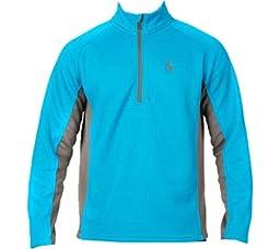 Spyder Men\'s Outbound Half Zip Sweater, Large, Polar/Black/Electric Blue