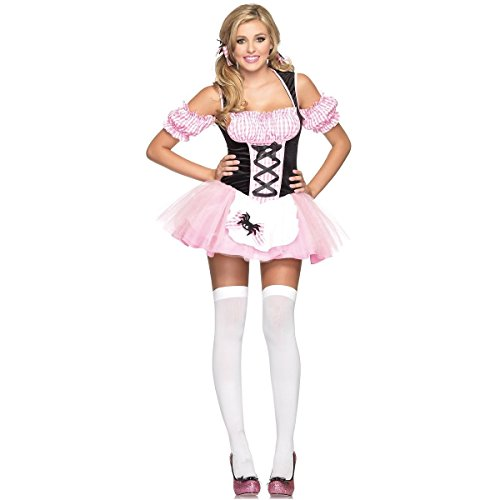 [GSG Sexy Gingham Little Miss Muffet Halloween Costume Fancy Dress] (Little Miss Muffet Outfit)