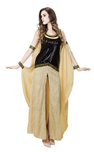 JustinCostume Women's Deluxe Egyptian Queen Greece Goddess Arabian Costumes