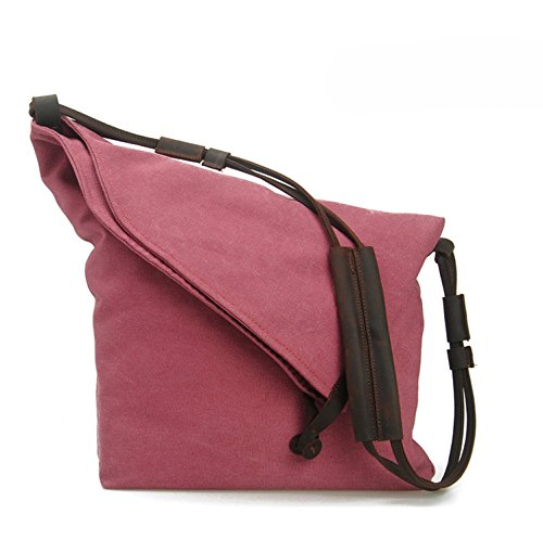 koson-man-unisex-personality-shape-simple-partysu-casual-canvas-sling-bag-shoulder-bagrosered