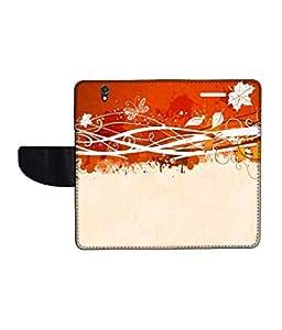 KolorEdge Printed Flip Cover For Sony Xperia Z Multicolor - (50KeMlogo10381XperiaZ)