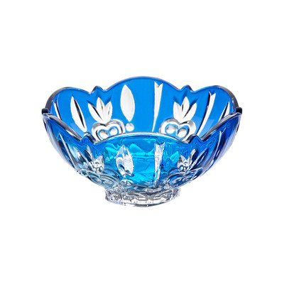 StudioSilversmiths 43984 Crystal Case Large Candy Dish - Blue