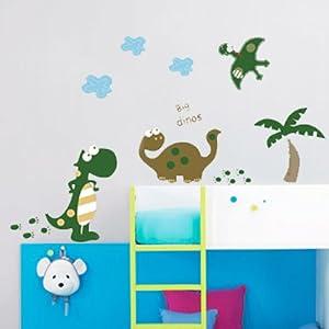 Walplus - Hoja de pegatinas para la pared, diseño de dinosaurios, varios colores marca Walplus