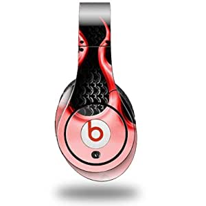 Metal Flames Red Decal Style Skin (fits ORIGINAL Beats Studio Headphones - HEADPHONES NOT INCLUDED)