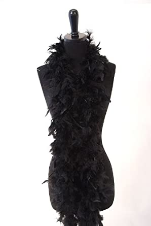 6' 40g Adult Feather Boa, Black