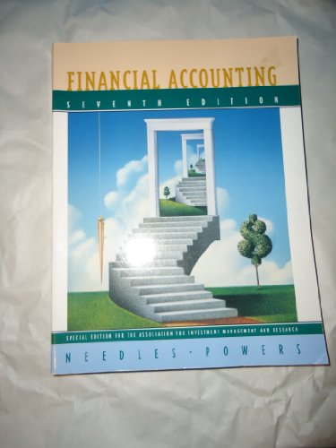 Financial Accounting, Seventh Edition, Custom Publication