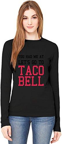 lets-go-to-taco-bell-funny-slogan-manga-larga-de-las-senoras-de-la-camiseta-long-sleeve-t-shirt-for-