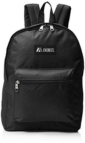 Everest Luggage Basic Backpack, Black, Medium