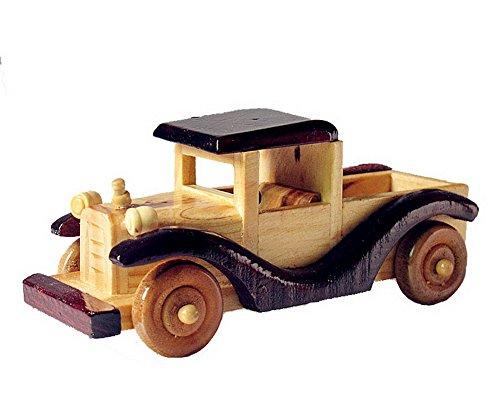 Vintage Handmade Wooden car model Home Furnishing decoration--D