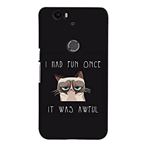 ColourCrust Huawei Google Nexus 6P Mobile Phone Back Cover With Quirky Style - Durable Matte Finish Hard Plastic Slim Case