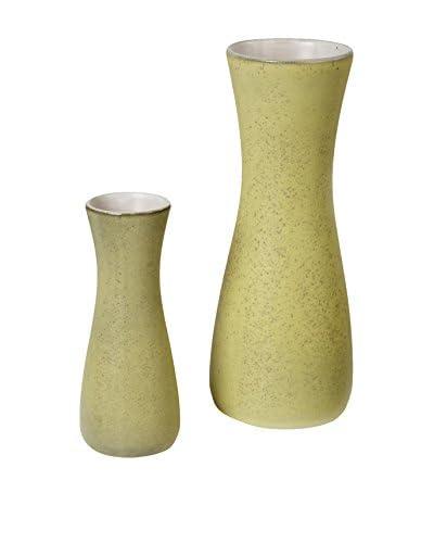 1950s Pair of Danish Vases, Yellow