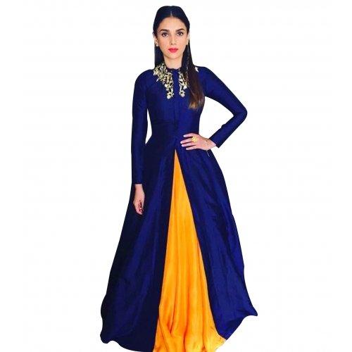 HMP-Fashion-lehenga-choli-blue-liril-cotton-silk