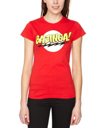The Big Bang Theory - T-shirt, Donna, Rosso (Red), Small