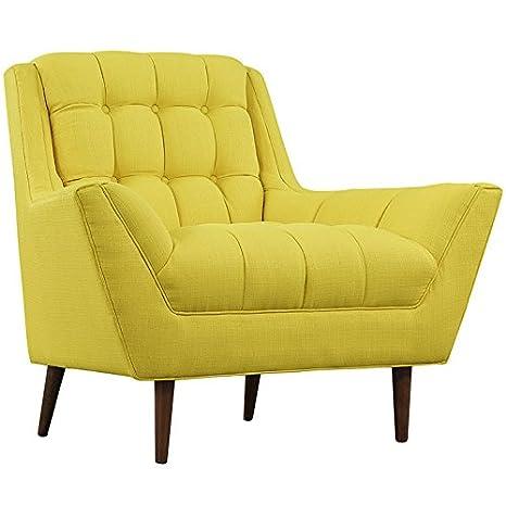 LexMod Response Fabric Armchair, Sunny