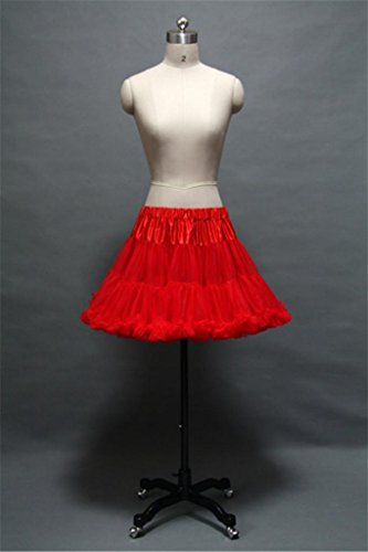 Red Rockabilly/Crinoline Net Short Petticoat Skirt Tutu for Prom/Costume Dress