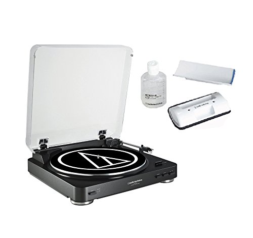 Audio-Technica-AT-LP60BK-Fully-Automatic-Belt-Driven-Stereo-Turntable-bundled-with-the-AT-6012-record-cleaner-kit