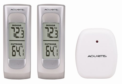 Chaney Instrument Wireless Weather Thermometer, 2 Base Units