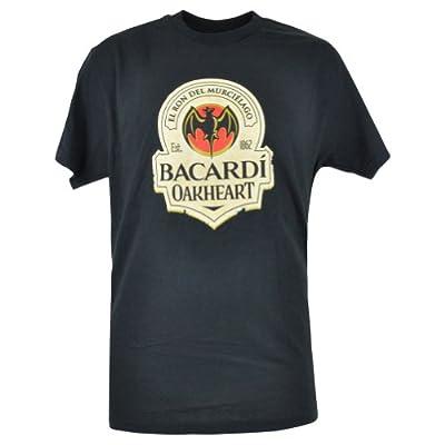 Bacardi Rum Oakheart 1862 Spiced Alcohol Brand Novelty Mens Black Tshirt Medium