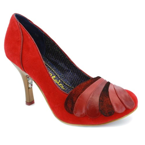 Irregular Choice Royal Marriage Heels Womens Suede Shoes Red - 4