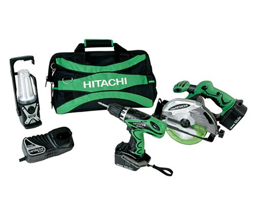 Buy Hitachi KC14DVF 14.4-Volt Ni-Cad Cordless 2-Tool Combo Kit