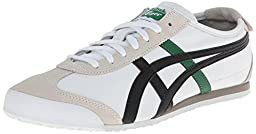 Onitsuka Tiger Mexico 66 Fashion Sneaker, White/Black/Green, 11.5 M Men\'s US/13 Women\'s M US